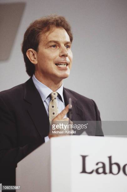 British Politician Tony Blair at the Labour Party Conference Blackpool UK 1995