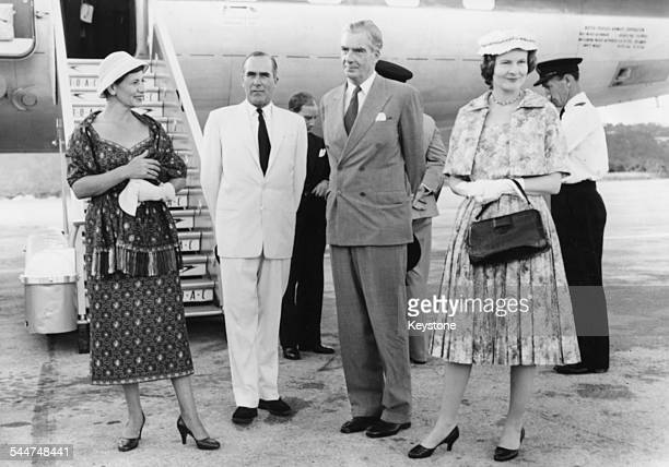 British politicians arriving for the funeral of the Prime Minister Lady Foot Governor of Jamaica Sir Hugh Foot Sir Anthony Eden and Lady Eden leaving...