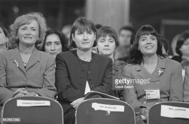 British politicians Glenys Kinnock and Harriet Harman at the Labour Party conference UK 1st October 1996