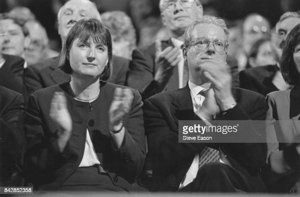 British politicians Harriet Harman and Chris Smith at the Labour Party conference UK 1st October 1996