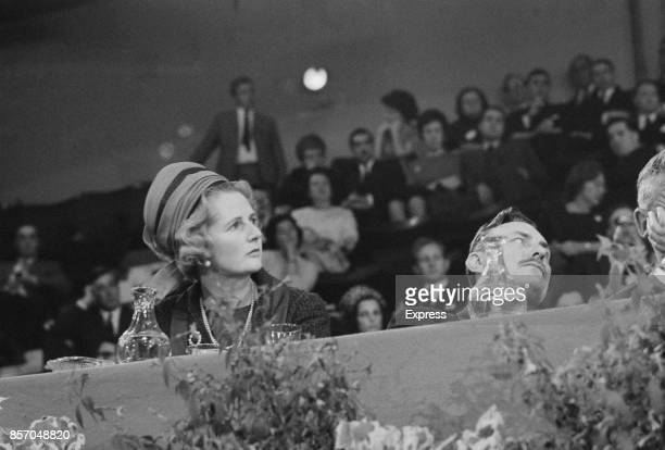British politicians Margaret Thatcher and Enoch Powell at the Conservative Party Conference Brighton UK 16th October 1965