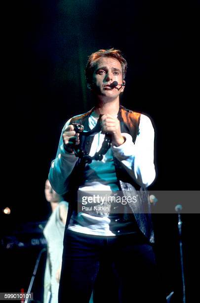 British Pop and Rock musician Peter Gabriel performs onstage at Marcus Ampitheater during the WOMAD Concert Tour Milwaukee Wisconsin September 3 1993