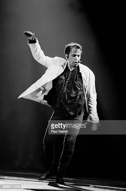 British Pop and Rock musician Peter Gabriel performs onstage at the Rosemont Horizon Rosemont Illinois July 7 1993