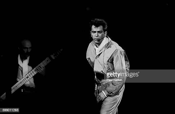 British Pop and Rock musician Peter Gabriel performs onstage at the Rosemont Horizon Rosemont Illinois December 4 1986