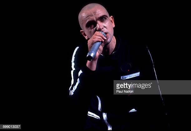 British Pop and Rock musician Peter Gabriel performs onstage at the Uptown Theater Chicago Illinois June 26 1980
