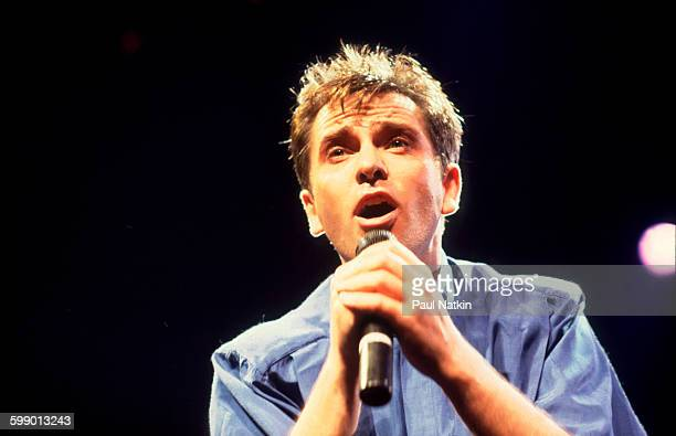 British Pop and Rock musician Peter Gabriel performs onstage at the Rosemont Horizon Rosemont Illinois June 13 1986