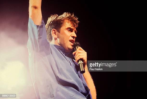 British Pop and Rock musician Peter Gabriel performs onstage at the Rosemont Horizon Rosemont Illinois June 13 1986