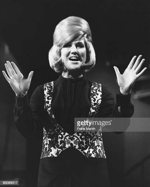 British pop and soul singer Dusty Springfield performs on the television show 'Ready Steady Go' February 1964