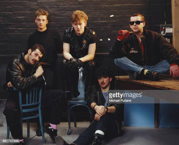 British pop band Frankie Goes to Hollywood UK March 1984 LR Paul Rutherford Mark O'Toole Brian Nash Peter Gill Holly Johnson