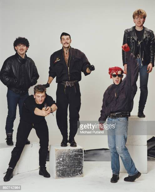 British pop band Frankie Goes to Hollywood UK March 1984 LR Peter Gill Mark O'Toole Paul Rutherford Holly Johnson Brian Nash