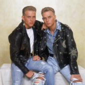 British pop duo bros consisting of twin brothers matt and luke goss picture id3074583?s=170x170