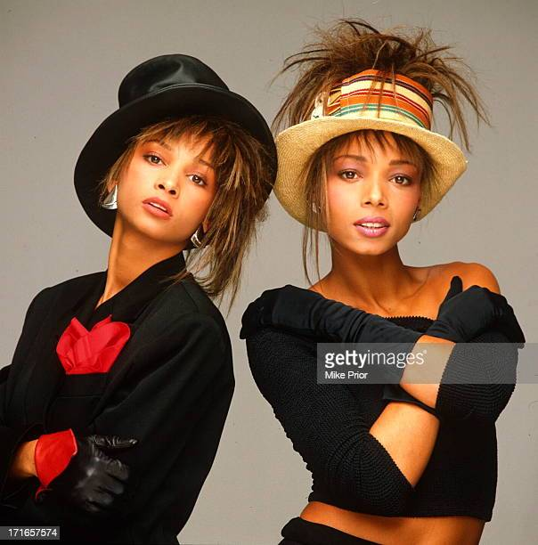 British pop duo Mel and Kim posed in London circa 1987 Left to right Melanie Appleby and Kim Appleby