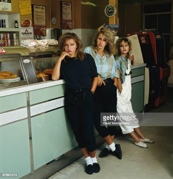 British pop group Bananarama circa 1980 From left to right Keren Woodward Sara Dallin and Siobhan Fahey