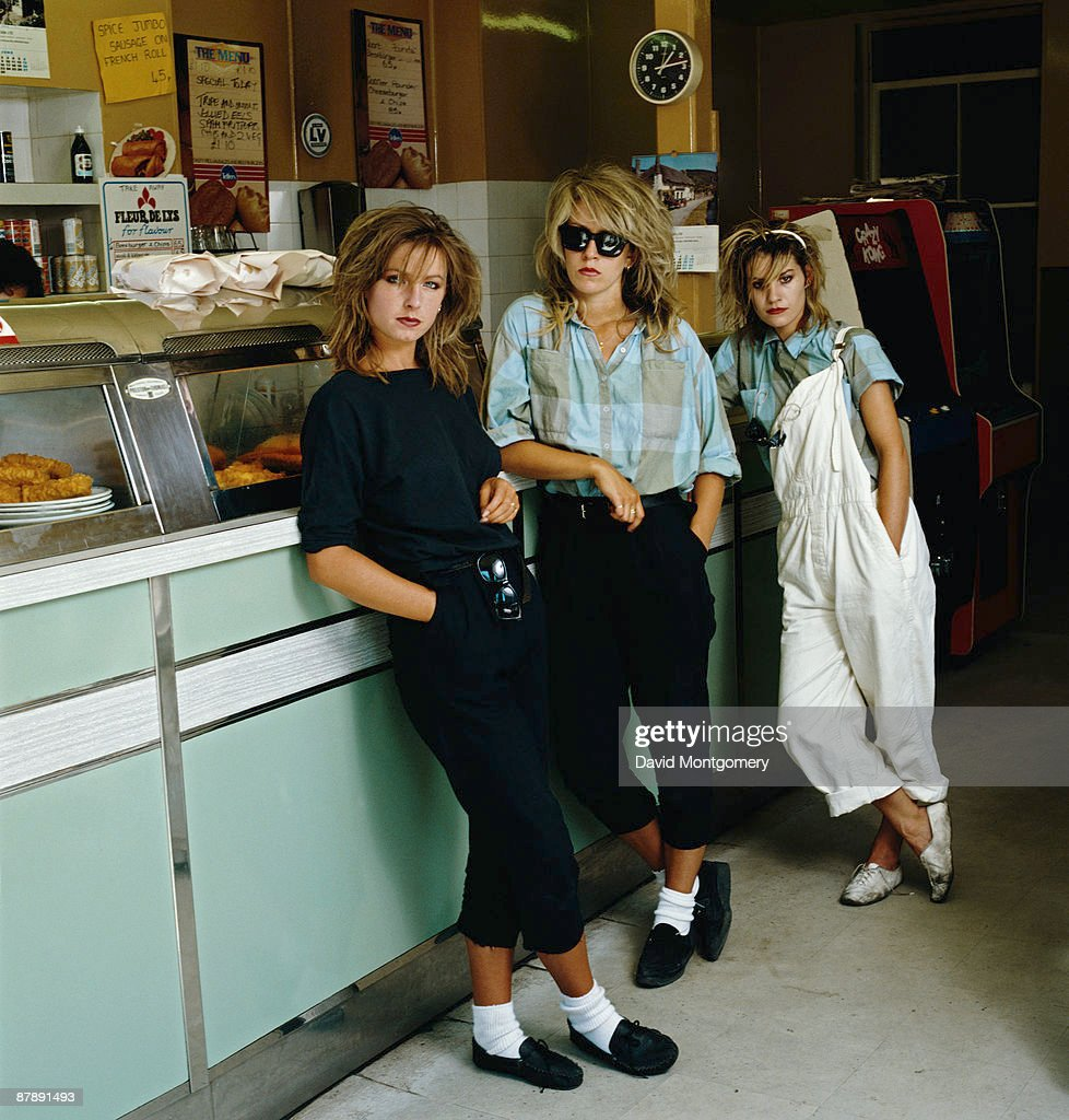 British pop group Bananarama, circa 1980. From left to right, Keren Woodward, Sara Dallin and Siobhan Fahey.