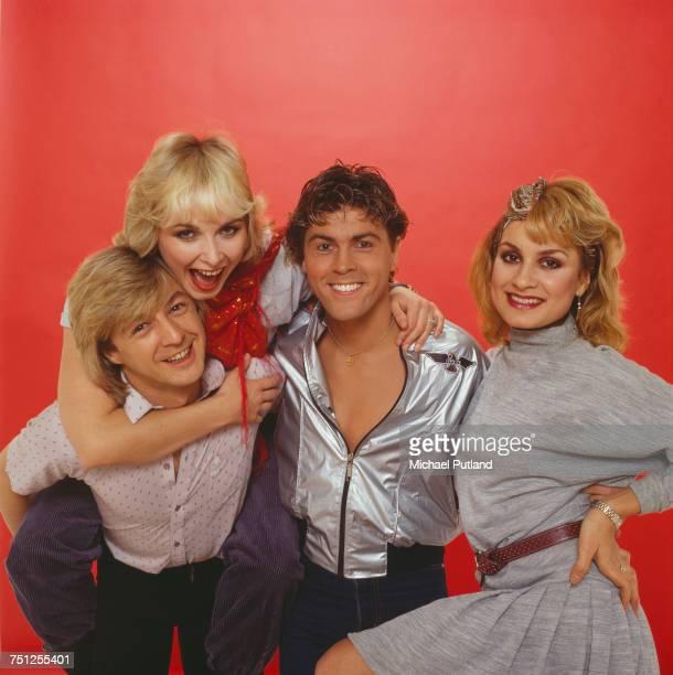 British pop group Bucks Fizz 1982 Left to right Bobby G Cheryl Baker Mike Nolan and Jay Aston