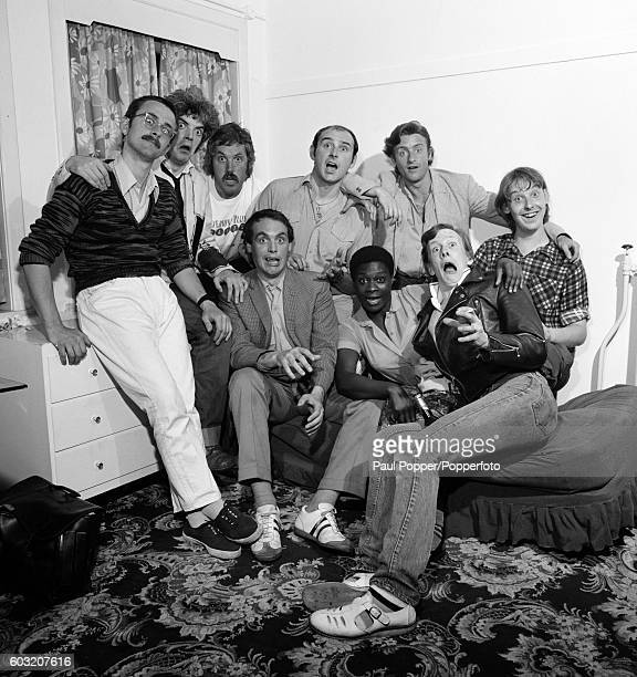 British pop group, 'Darts' in Manchester circa 1978. Darts were a nine-piece British doo-wop revival band that achieved chart success in the late...