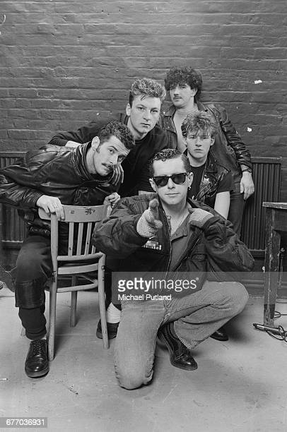British pop group Frankie Goes To Hollywood London FebruaryMarch 1983 Clockwise from front singer Holly Johnson keyboard player Paul Rutherford...