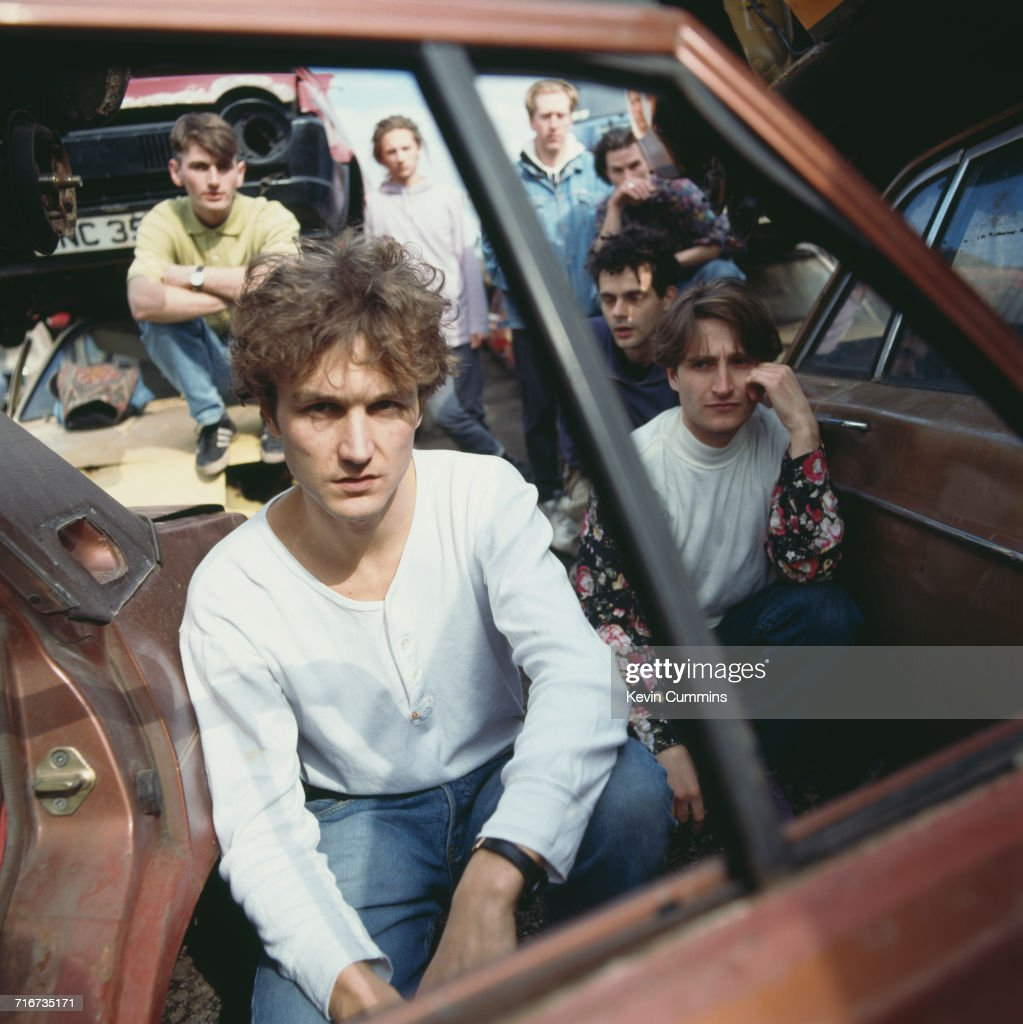Fotos de saul davies fotografias de saul davies getty images british pop group james posing in a scrapyard circa 1990 clockwise from front ccuart Image collections