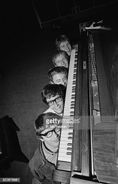 British pop group Manfred Mann at the Marquee Club London 10th August 1964 From top to bottom Mike Hugg Paul Jones Mike Vickers Mike McGuiness...