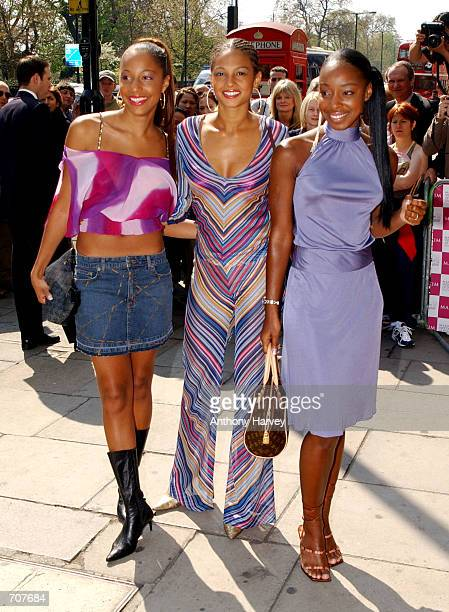 British Pop group MisTeeq arrives at the Maxim Women of the Year Awards April 16 2002 in London