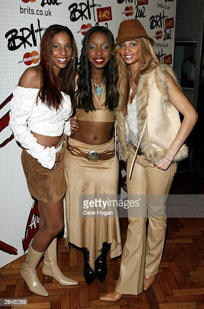British pop group Misteeq attend the launch for the Brit Awards 2002 at Abbey Road Studios on January 14 2002 in London