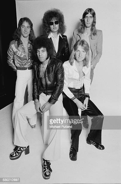British pop group Mungo Jerry 17th October 1974 Singersongwriter Ray Dorset is at front left