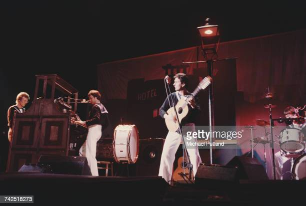 British pop group Sailor perform live on stage circa 1975 The band are from left to right Henry Marsh Phil Pickett Georg Kajanus and Grant Serpell