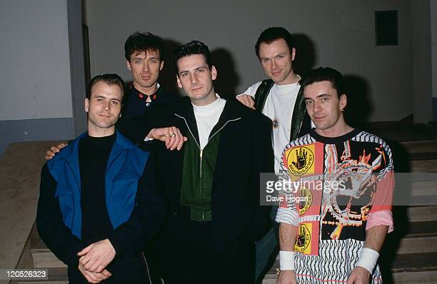 British pop group Spandau Ballet circa 1985 Left to right saxophonist Steve Norman bassist Martin Kemp singer Tony Hadley guitarist Gary Kemp and...