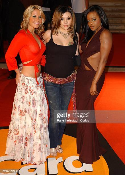 British pop group Sugababes attends the Brit Awards 2005 held at Earl's Court 2