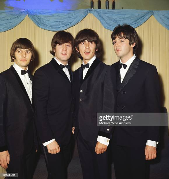 British pop group the Beatles at the premiere of their latest film 'Help' Ringo Starr John LennonGeorge Harrison Paul McCartney on July 29 1965 in...