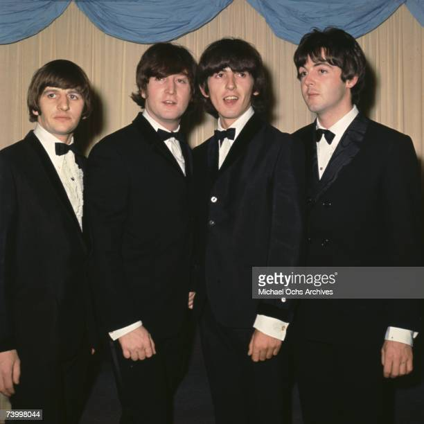 British pop group the Beatles at the premiere of their latest film 'Help!'. Ringo Starr, John Lennon,George Harrison, Paul McCartney on July 29, 1965...