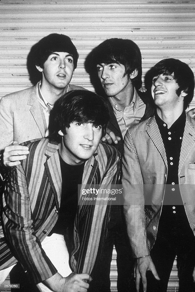 British pop group The Beatles pose while in Los Angeles, California, circa 1965. Clockwise from Top