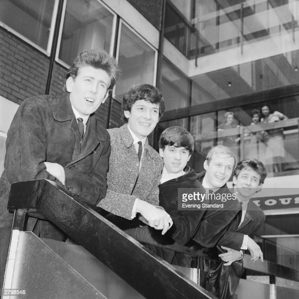 British pop group The Hollies 11th April 1964 They are Allan Clarke Bobby Elliot Graham Nash Tony Hicks and Eric Haydock