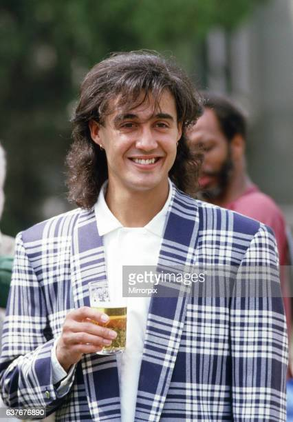 British pop group Wham pictured on their 10day visit to China April 1985 Singer and guitarist Andrew Ridgeley during the historic trip