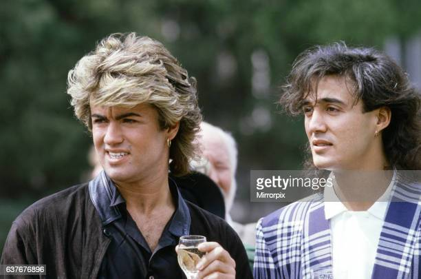 British pop group Wham pictured on their 10day visit to China April 1985 George Michael and Andrew Ridgeley during the historic trip