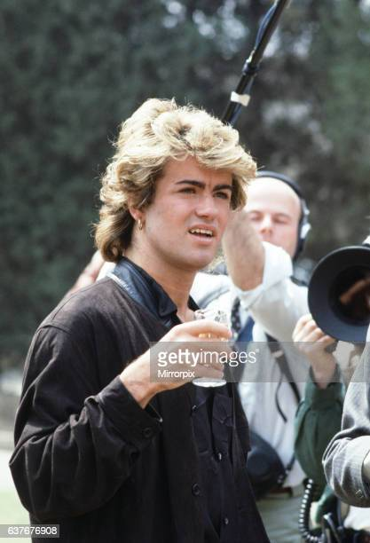 British pop group Wham pictured on their 10day visit to China April 1985 Singer George Michael during the historic trip