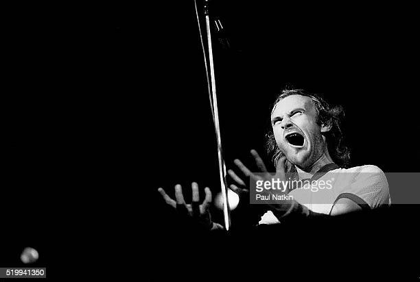 British Pop musician Phil Collins of the band Genesis performs onstage at the Uptown Theater Chicago Illinois October 13 1978