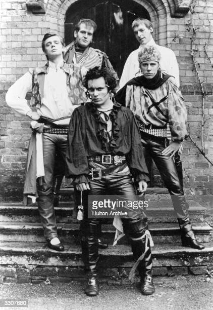 British pop sensation Adam And The Ants comprising of from bottom clockwise Adam Ant Merrick Marco Pirroni Terry Lee Maill Gary Tibbs