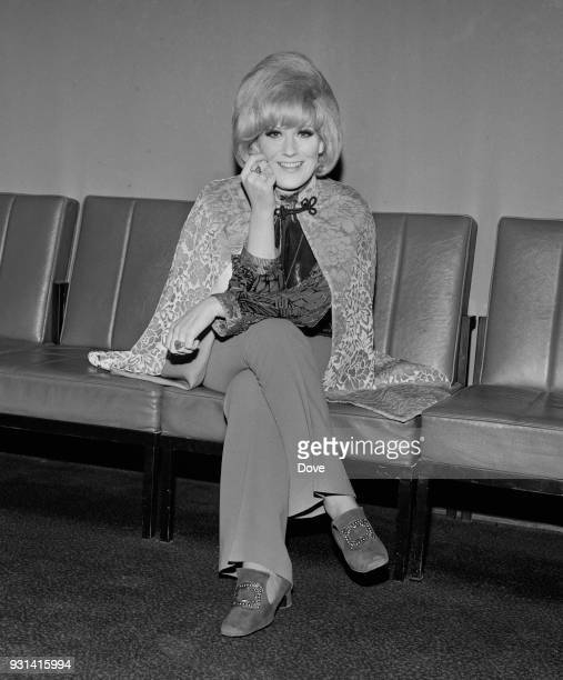 British pop singer and record producer Dusty Springfield at Heathrow Airport London UK 9th September 1968