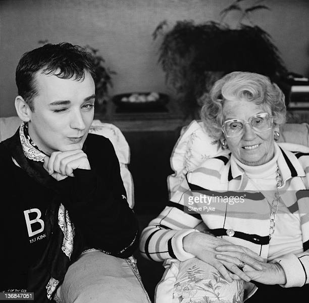British pop singer Boy George with social conservative media campaigner Mary Whitehouse 10th January 1989