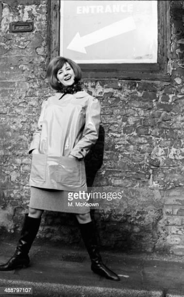 British pop singer Cilla Black posing in a fashion shoot February 20th 1964