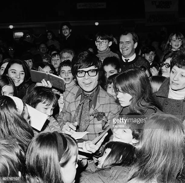 British pop singer Cliff Richard opens the Alexandra Rose Day Market at Seymour Hall London 14th March 1970