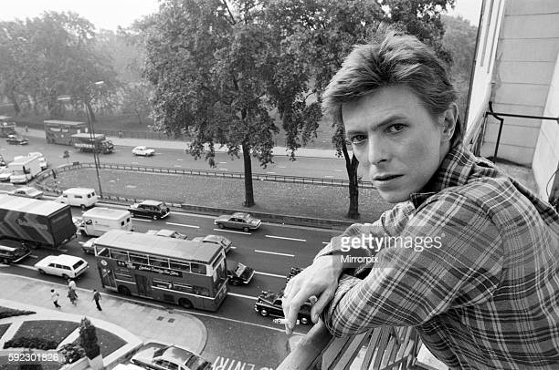 British pop singer David Bowie pictured at the Dorchester Hotel London 20th October 1977