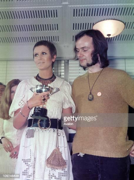 British Pop Singer Julie Driscoll with JOHN PEEL British Disc Jockey
