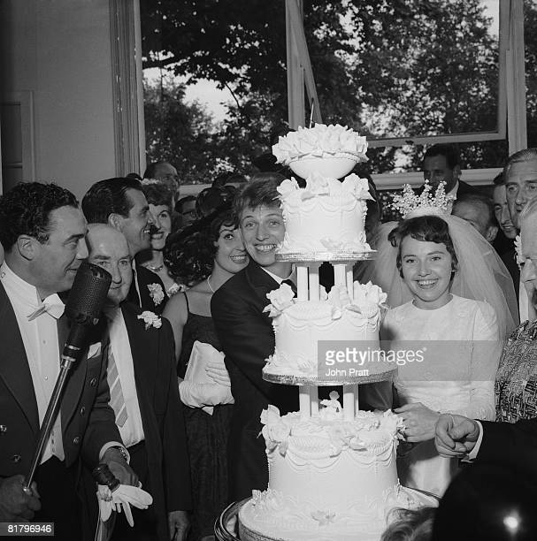 British pop singer Tommy Steele with Ann Donoghue at the Savoy Hotel after their wedding at St Patrick's Church Soho London 18th June 1960