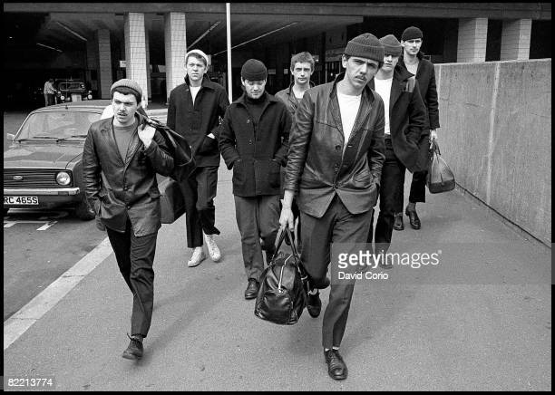 British pop soul group Dexys Midnight Runners in Birmingham March 1980 In the foreground is singer Kevin Rowland
