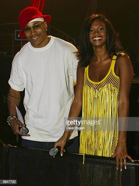 British pop star Alesha Dixon from the group Misteeq and the American pop star LL Cool J attend the MOBO awards at London Arena on October 1 2002 in...