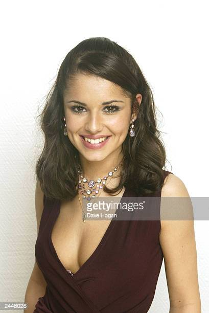 British pop star Cheryl Tweedy of girl group 'Girls Aloud' poses for photos after winning 'Popstars The Rivals' on November 30 2002 in London