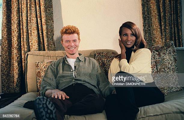 British pop star David Bowie with his wife Somalianborn American supermodel Iman Bowie