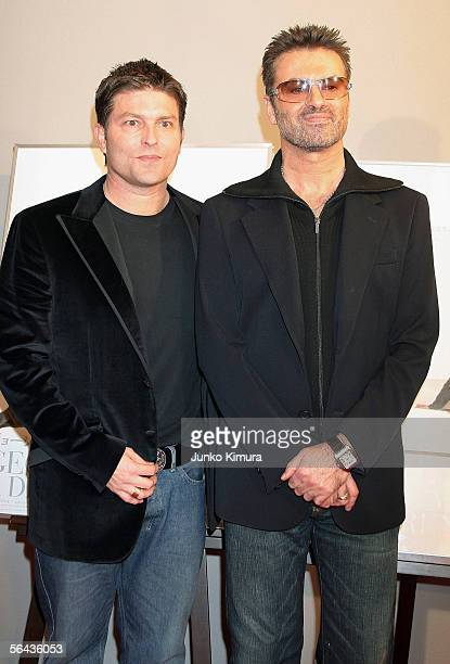 British pop star George Michael and his partner Kenny Goss attend the Japanese Premiere of his film A Different Story on December 15 2005 in Tokyo...